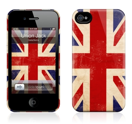 "Чехол для iPhone 4,4S Gelaskins ""Union Jack"" фото"