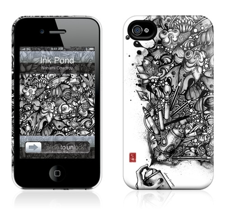 "Чехол для iPhone 4,4S Gelaskins ""Ink Pond"" фото"