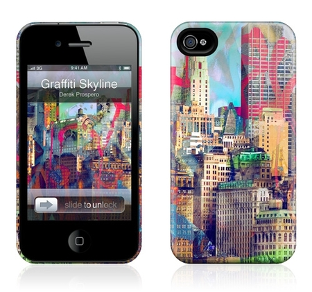 "Чехол для iPhone 4,4S Gelaskins ""Graffiti Skyline"" фото"