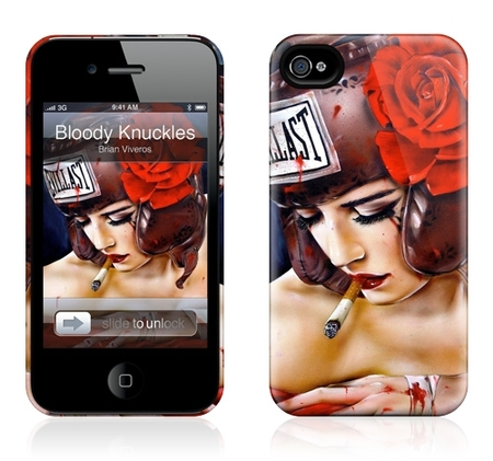 "Чехол для iPhone 4,4S Gelaskins ""Bloody Knuckles"" фото"