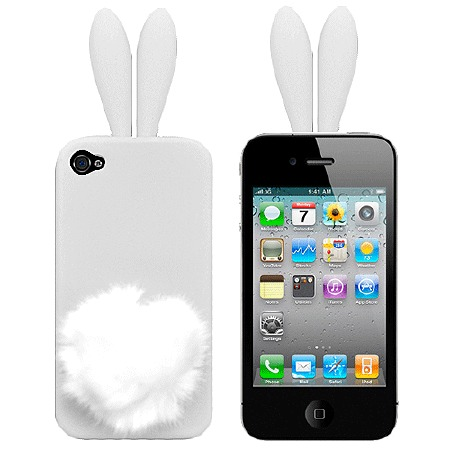 Чехол для iPhone5/5s Bunny white фото