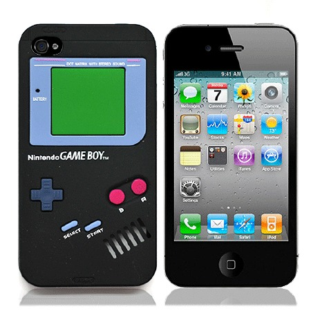 "Чехол для iPhone4 ""Game boy"" (черный) фото"
