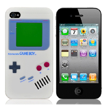 "Чехол для iPhone4 ""Game boy"" (белый) фото"
