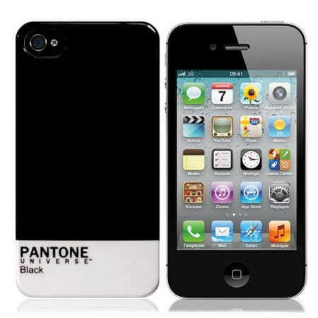 "Чехол для iPhone4 ""Pantone Black"" фото"