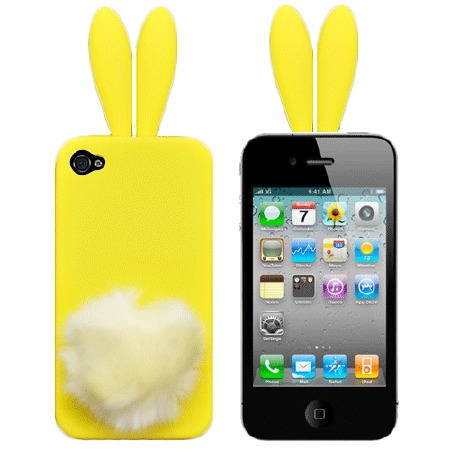 Чехол для iPhone5/5s Bunny yellow фото