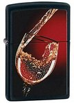 ZIPPO Зажигалка Glass of Wine, Black Matte модель 28179 фото