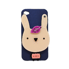 "Чехол для iPhone4 ""Rabbit dark blue"" фото"