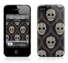 "Чехол для iPhone 4,4S Gelaskins ""Skull Damask"" фото"