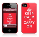 "Чехол для iPhone 4,4S Gelaskins ""Keep Calm"" фото"